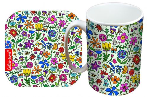Selina-Jayne Summer Meadow Limited Edition Designer Mug and Coaster Set